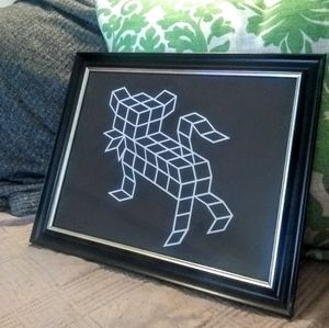 Geometric Kitty Art